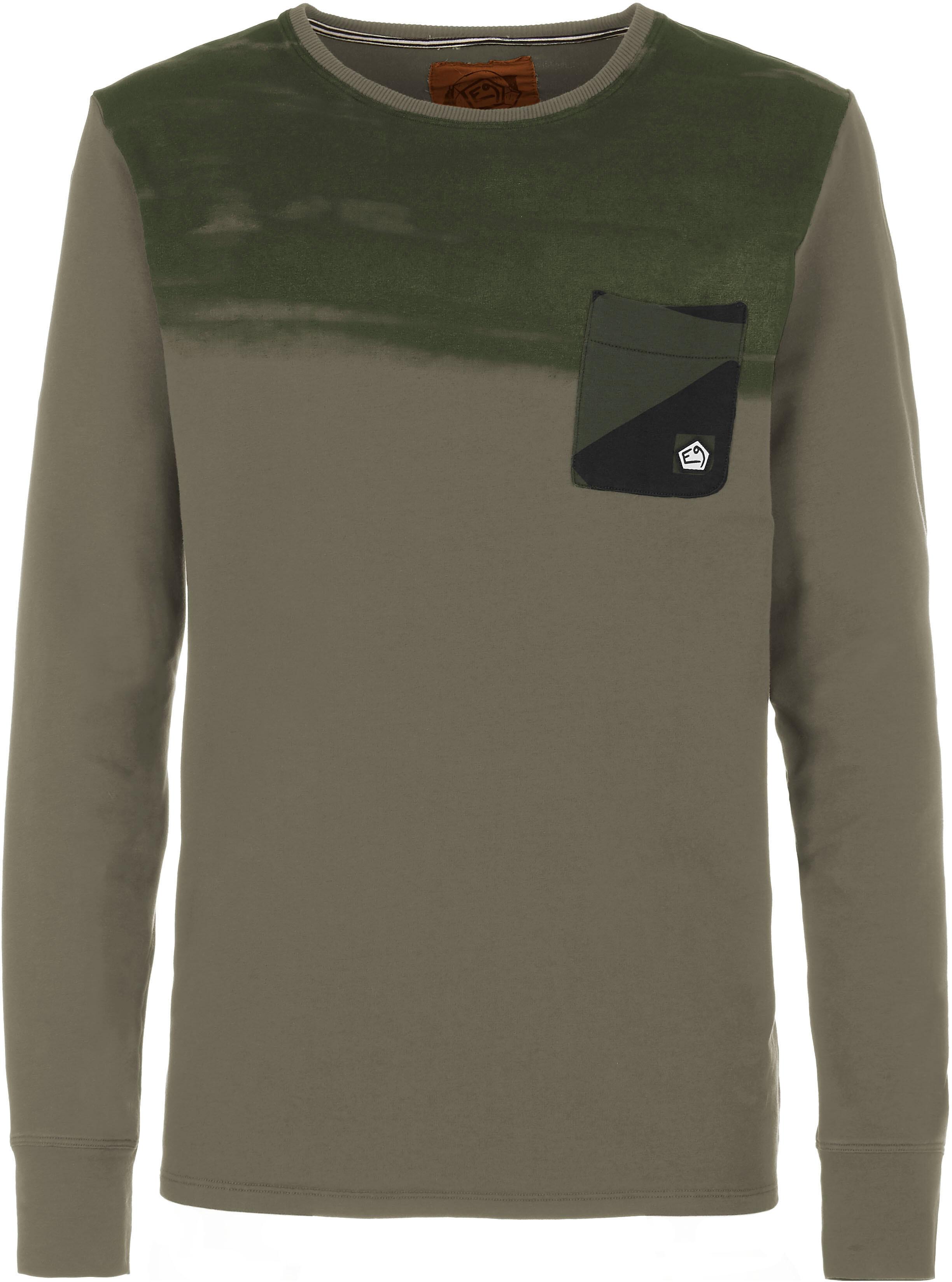 63e53675eaf80 E9 Stripe On - T-shirt manches longues Homme - beige sur CAMPZ !